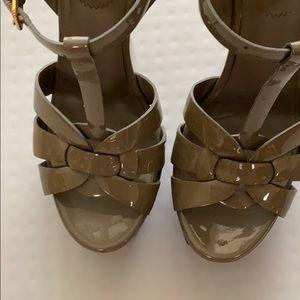 YSL Saint Laurent Tribute shoes sandals Gray 36.5
